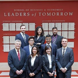 Lazaridis School of Business and Economics students compete in final round of Bank of Canada competition