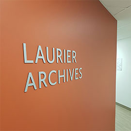 Laurier Archives entrance