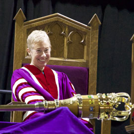 Laurier's new chancellor urges graduates to travel the world and remain engaged with the university