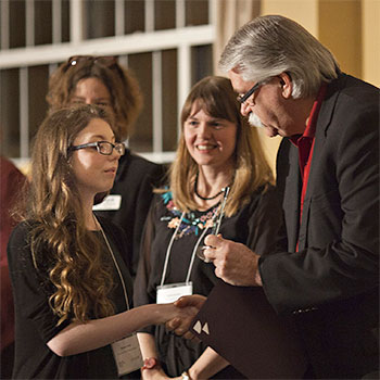 Young authors take home $10,000 in winnings at inaugural Laurier Stedman Prize celebration