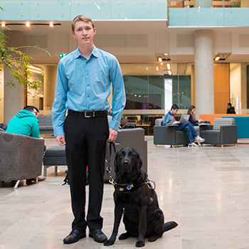 Laurier student with vision impairment advocating for accessibility and inclusion