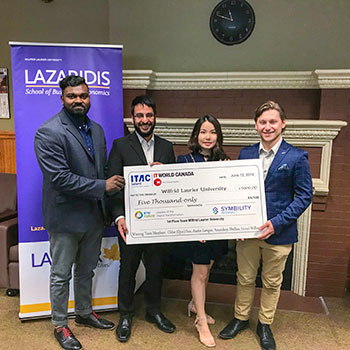 Image - Laurier team wins top prize at national business technology case competition